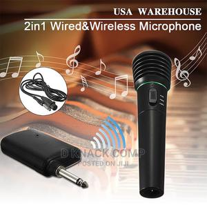 2in1 Wireless Microphone Receiver Studio System Karaoke | Audio & Music Equipment for sale in Lagos State, Surulere