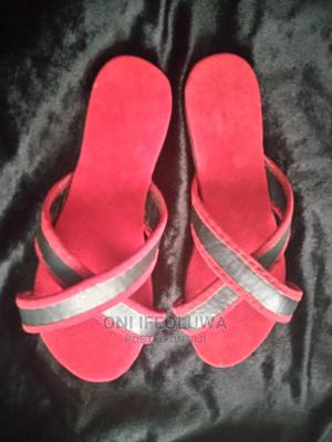 Red and Black Cross Palm   Shoes for sale in Ekiti State, Ado Ekiti