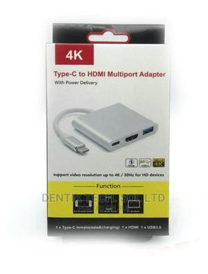 Type-C HDMI Multiport Adapter With USB3.0 Type-C Charging   Accessories & Supplies for Electronics for sale in Lagos State, Ikeja