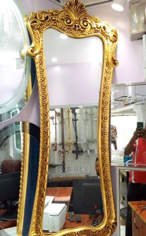 Gold Frame Fancy Big Wall Mirror | Home Accessories for sale in Lagos State, Amuwo-Odofin