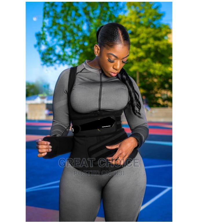 Latex Waist Trainer Vest - Double Compression Strap With Zip