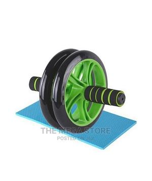 Double Sides Ab Roller Wheel With Knee Support Mat | Sports Equipment for sale in Lagos State, Surulere