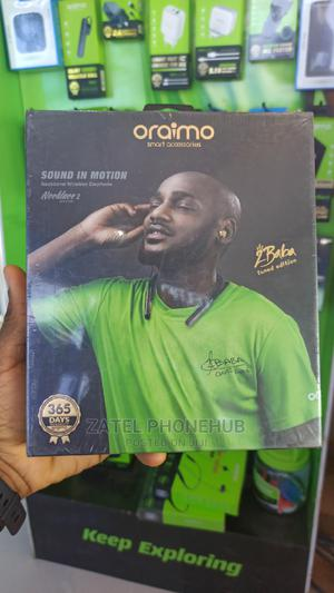 Oraimo 2baba Tuned Edition of Neckband Wireless Earphone | Headphones for sale in Lagos State, Ikeja