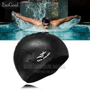 Adults Silicone Swim Caps Comfortable Swimming Cap   Sports Equipment for sale in Lagos State, Surulere