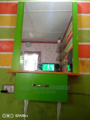 A Barbing Mirror With NBF Made Wood   Salon Equipment for sale in Oyo State, Ibadan