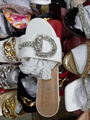 Ladies White Outing Slippers | Shoes for sale in Lagos State, Ipaja