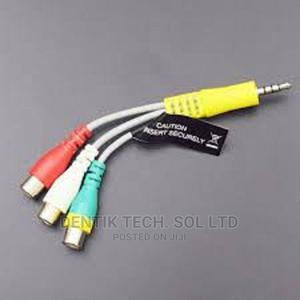 3.5mm Male Plug to 3 RCA Female Audio Video AV Cable   Accessories & Supplies for Electronics for sale in Lagos State, Ikeja
