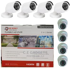 8 Channels DVR And 4 Outdoors, 4 Indoors CCTV Combo Camera | Security & Surveillance for sale in Lagos State, Ojo