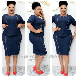 Quality Turkey Female Denim Skirt and Blouse Available Sizes   Clothing for sale in Lagos State, Ikeja