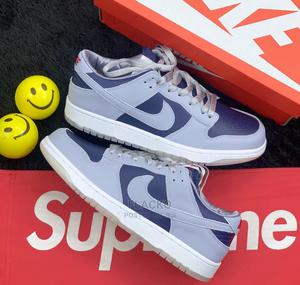 Original Nike Dunk Low College Navy Grey Sneakers Available   Shoes for sale in Lagos State, Surulere