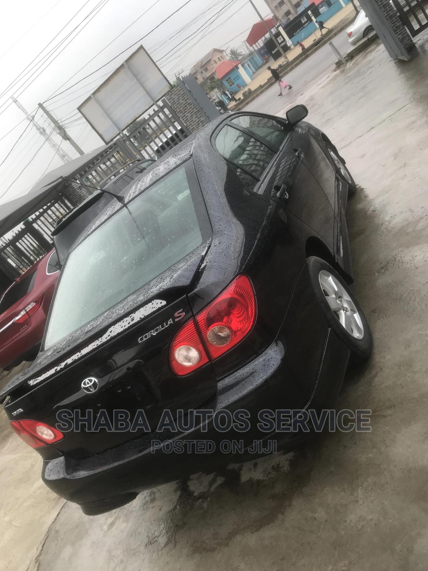 Toyota Corolla 2008 Black   Cars for sale in Isolo, Lagos State, Nigeria