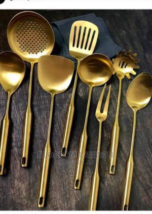 1pcs Italian Golden Spoon | Kitchen & Dining for sale in Lagos State, Lagos Island (Eko)