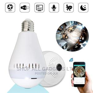 360° Panorama Wifi Globe Hidden Lamp Bulb IP Camera   Security & Surveillance for sale in Lagos State, Ikeja