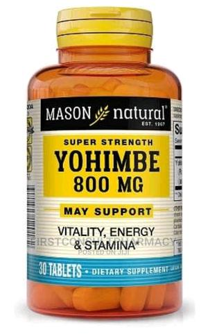 Mason Natural Super Strength Yohimbe 800mg X 30   Sexual Wellness for sale in Lagos State, Surulere