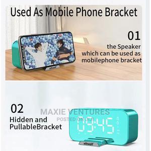 Winwolf Bluetooth Speaker Wireless Portable Alarm Clock FM R | Audio & Music Equipment for sale in Lagos State, Surulere