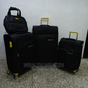 Adequate Travelling 3 Set With One Bag Luggage Black Bag | Bags for sale in Lagos State, Ikeja