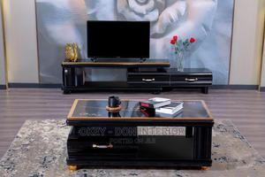 Quality Wooden Glass Center Table With Tv Stand | Furniture for sale in Lagos State, Ajah