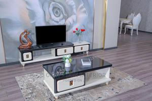 Quality Wooden Glass Center Table With Tv Stand | Furniture for sale in Lagos State, Ikorodu