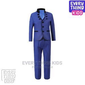 Boys 3pcs Mandarin Design Suit- Royal Blue and Black | Children's Clothing for sale in Lagos State, Ikeja