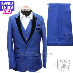 Boys 3pcs Tuxedo Suit- Royal Blue With Black Details | Children's Clothing for sale in Lagos State, Ikeja