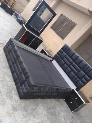 5 by 6 Bed With Dressing Mirror | Furniture for sale in Lagos State, Lekki
