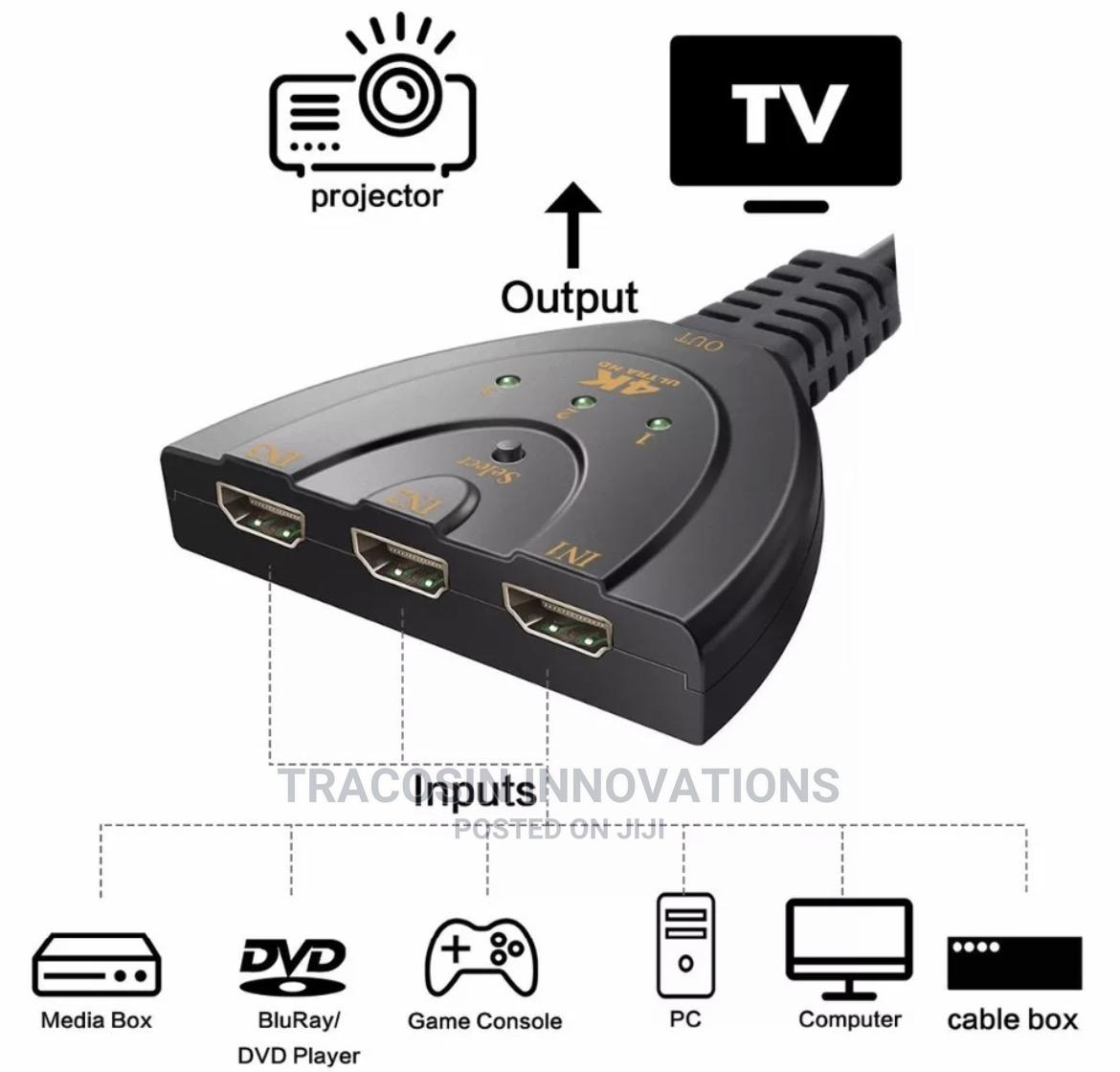 HDMI Selector/Switch 3 Way | Accessories & Supplies for Electronics for sale in Yaba, Lagos State, Nigeria