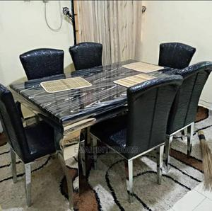 Imported Marble Dining Table With 6 Chairs   Furniture for sale in Lagos State, Lekki