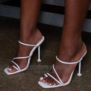 Ladies White Heel Slippers | Shoes for sale in Edo State, Benin City