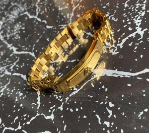 Men's Stainless Steel Gold Bracelet Link | Jewelry for sale in Lagos State, Ikorodu