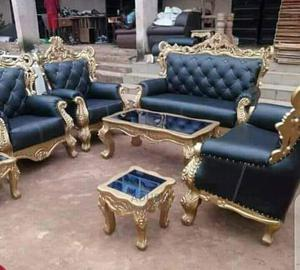 Set of Executive Leader Sofar With Glass Senter Table | Furniture for sale in Lagos State, Ikeja