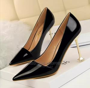 Black Office Shoes Black Courts Black Corporate Shoes Heels   Shoes for sale in Rivers State, Port-Harcourt