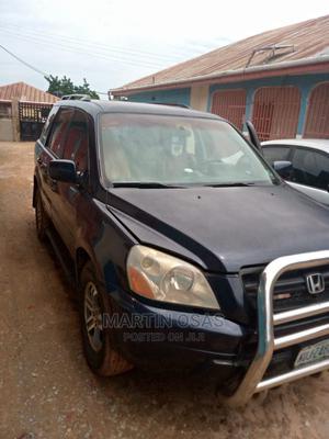 Honda Pilot 2004 EX-L 4x4 (3.5L 6cyl 5A) Blue | Cars for sale in Edo State, Auchi