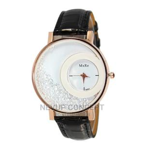 Mxre Rhinestone Leather Watch - Black   Watches for sale in Lagos State, Agege
