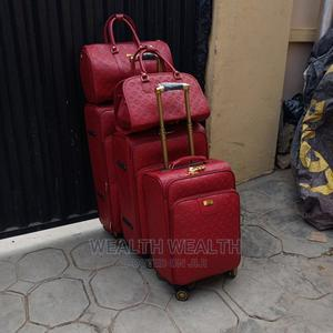 360 Degree Wheel Trolley Red Luggage Bag | Bags for sale in Lagos State, Ikeja