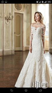 Trendy A-Line Wedding Gown With Detachable Crystal Waistbelt   Wedding Wear for sale in Lagos State, Kosofe