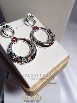 Silver Multicolored Dangling Earrings   Jewelry for sale in Lagos State, Agboyi/Ketu
