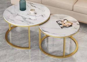 2 in 1 Marble Center Table   Furniture for sale in Abuja (FCT) State, Asokoro