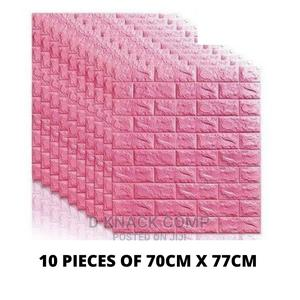 10PCS Foam 3d Self Adhesive Brick Wallpaper Sticker - Pink   Home Accessories for sale in Lagos State, Surulere