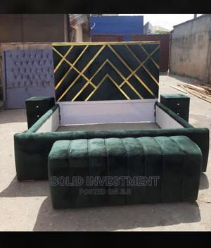 6/6 Padded Bed Frame With 2 Bed Side and Footrest   Furniture for sale in Lagos State, Lekki