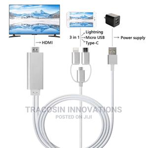 Lightning to HDTV Cable (HDMI)   Accessories & Supplies for Electronics for sale in Lagos State, Yaba