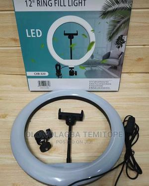 12inches Non-Rechargeable Ringlight With a Tripod Send | Tools & Accessories for sale in Lagos State, Lekki