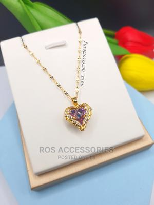 Swarov* Crystal Heart Necklace   Jewelry for sale in Delta State, Warri