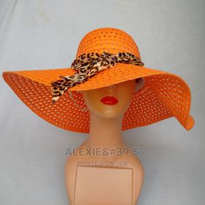 Net Beach Hat for Women - Orange | Clothing Accessories for sale in Abuja (FCT) State, Kubwa