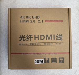 4K HDMI Cable AOC Active Optic Fibre 20m | Accessories & Supplies for Electronics for sale in Lagos State, Yaba