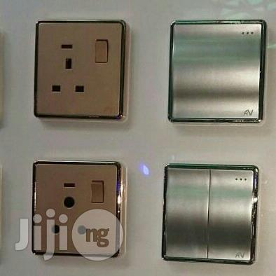 Switchs And Sockets Gold And Silver