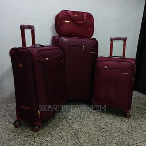 Portable Swiss Polo Trolley Luggage Red Bag | Bags for sale in Lagos State, Ikeja
