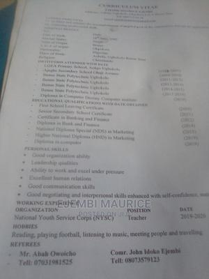 Advertising Marketing CV   Advertising & Marketing CVs for sale in Abuja (FCT) State, Orozo