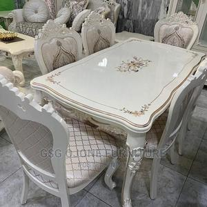 Cream Royal Wooden Dinning Table   Furniture for sale in Lagos State, Lekki
