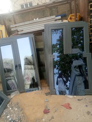 Aluminum Casement Windows With Gray Material and Gray Glass   Windows for sale in Abuja (FCT) State, Jabi