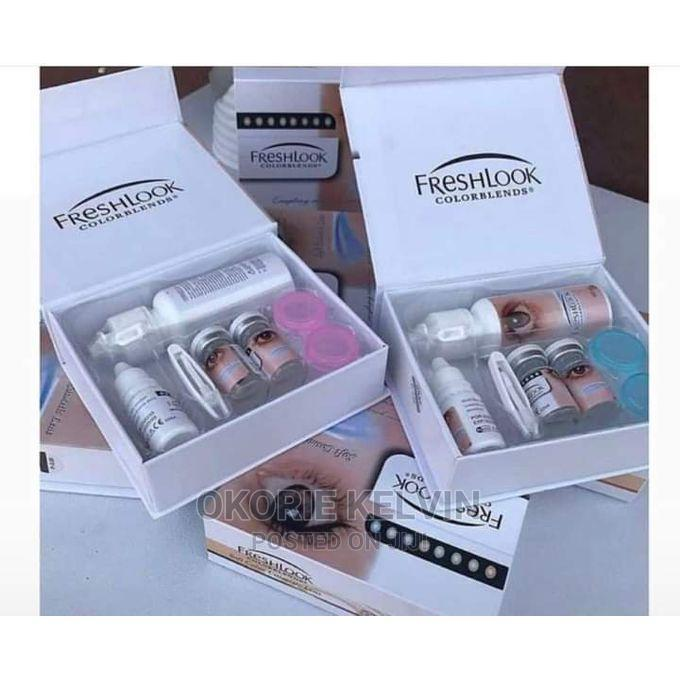 Eye Contact Lens Complete Set With Solution   Skin Care for sale in Ojo, Lagos State, Nigeria